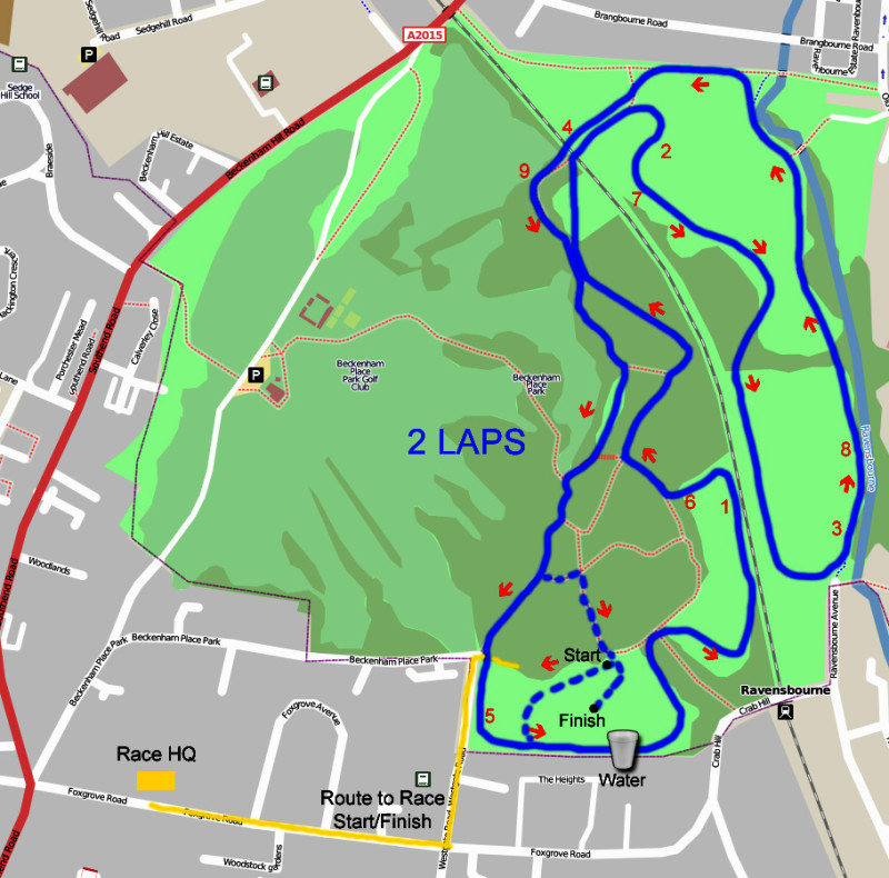 Trail Race Course Map